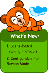 What's New:   1. Scene-based Training Protocols.  2. Configurable Full Screen Mode.